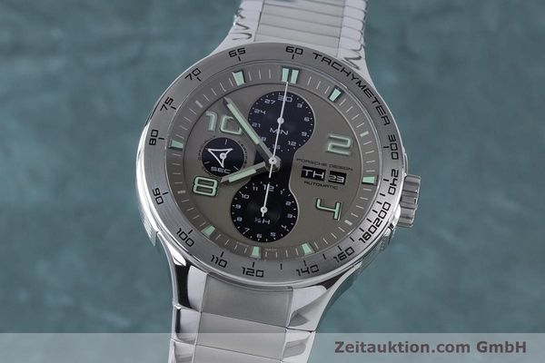 Used luxury watch Porsche Design Dashbord chronograph steel automatic Kal. ETA 7750 Ref. P6340  | 161104 04