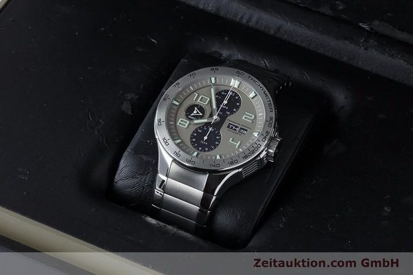 Used luxury watch Porsche Design Dashbord chronograph steel automatic Kal. ETA 7750 Ref. P6340  | 161104 07