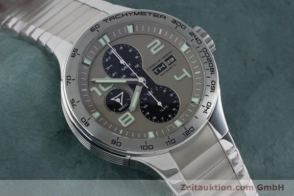 Used luxury watch Porsche Design Dashbord chronograph steel automatic Kal. ETA 7750 Ref. P6340  | 161104 15