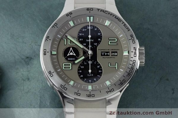 Used luxury watch Porsche Design Dashbord chronograph steel automatic Kal. ETA 7750 Ref. P6340  | 161104 16