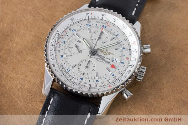 Used luxury watch Breitling Navitimer World chronograph steel automatic Kal. B24 ETA 7754 Ref. A24322  | 161112 01