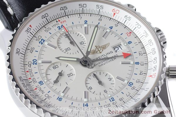 Used luxury watch Breitling Navitimer World chronograph steel automatic Kal. B24 ETA 7754 Ref. A24322  | 161112 02