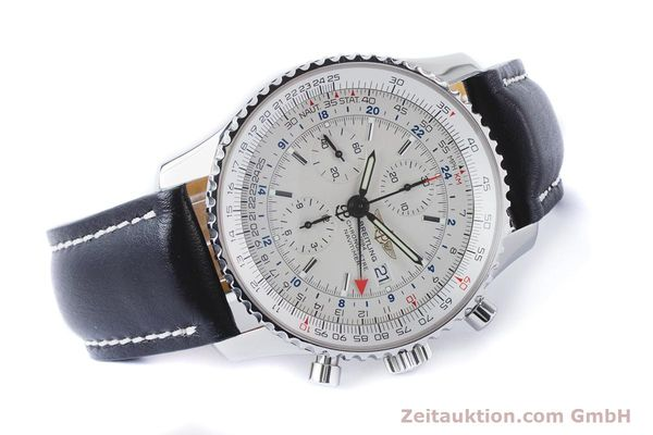 Used luxury watch Breitling Navitimer World chronograph steel automatic Kal. B24 ETA 7754 Ref. A24322  | 161112 03