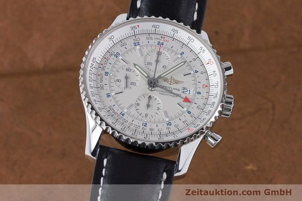 Used luxury watch Breitling Navitimer World chronograph steel automatic Kal. B24 ETA 7754 Ref. A24322  | 161112 04
