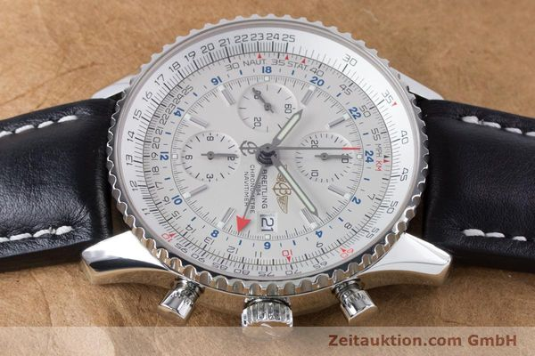 Used luxury watch Breitling Navitimer World chronograph steel automatic Kal. B24 ETA 7754 Ref. A24322  | 161112 05