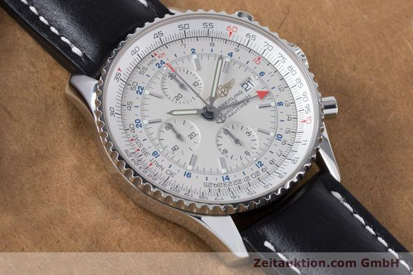 Used luxury watch Breitling Navitimer World chronograph steel automatic Kal. B24 ETA 7754 Ref. A24322  | 161112 14