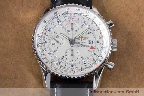 Used luxury watch Breitling Navitimer World chronograph steel automatic Kal. B24 ETA 7754 Ref. A24322  | 161112 15