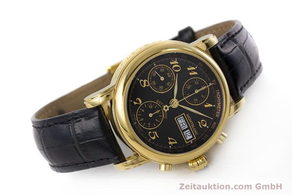 Used luxury watch Montblanc Meisterstück chronograph gold-plated automatic Kal. 4810501 ETA 7750 Ref. 7016  | 161121 03