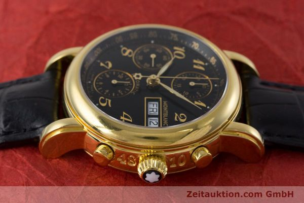 Used luxury watch Montblanc Meisterstück chronograph gold-plated automatic Kal. 4810501 ETA 7750 Ref. 7016  | 161121 05