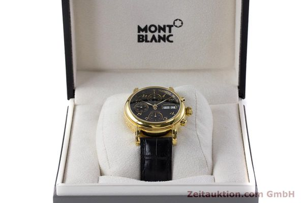 Used luxury watch Montblanc Meisterstück chronograph gold-plated automatic Kal. 4810501 ETA 7750 Ref. 7016  | 161121 07
