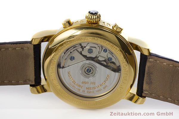 Used luxury watch Montblanc Meisterstück chronograph gold-plated automatic Kal. 4810501 ETA 7750 Ref. 7016  | 161121 09