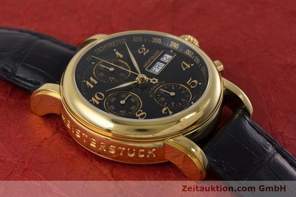 Used luxury watch Montblanc Meisterstück chronograph gold-plated automatic Kal. 4810501 ETA 7750 Ref. 7016  | 161121 14