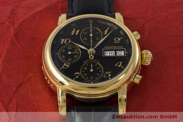 Used luxury watch Montblanc Meisterstück chronograph gold-plated automatic Kal. 4810501 ETA 7750 Ref. 7016  | 161121 15