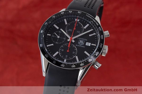 TAG HEUER CARRERA CHRONOGRAPH AUTOMATIK HERRENUHR STAHL CAL 16 NP: 4100,- Euro [161125]
