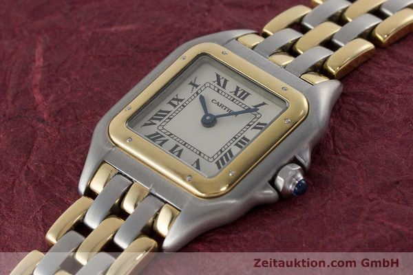 Used luxury watch Cartier Panthere steel / gold quartz Kal. 157  | 161135 01