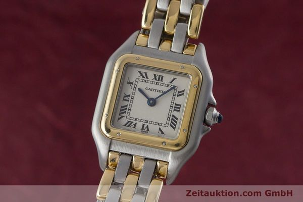 Used luxury watch Cartier Panthere steel / gold quartz Kal. 157  | 161135 04