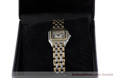 CARTIER PANTHERE STEEL / GOLD QUARTZ KAL. 157 [161135]