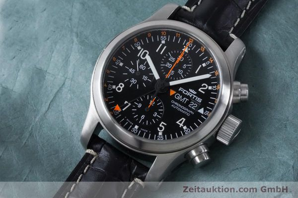 Used luxury watch Fortis B-42 chronograph steel automatic Kal. ETA 7750  | 161152 01
