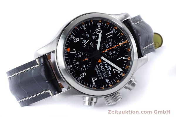 Used luxury watch Fortis B-42 chronograph steel automatic Kal. ETA 7750  | 161152 03
