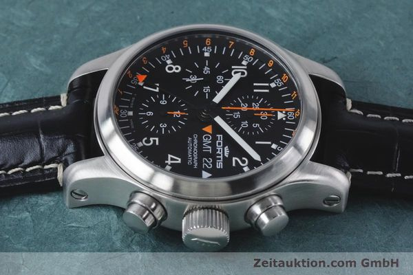 Used luxury watch Fortis B-42 chronograph steel automatic Kal. ETA 7750  | 161152 05