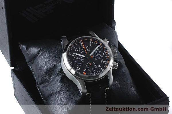 Used luxury watch Fortis B-42 chronograph steel automatic Kal. ETA 7750  | 161152 07