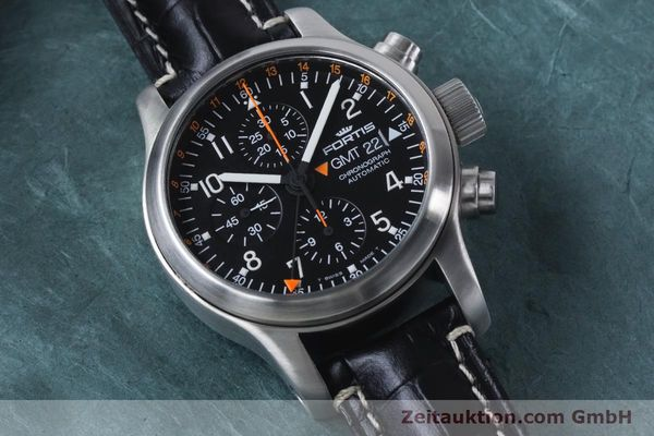 Used luxury watch Fortis B-42 chronograph steel automatic Kal. ETA 7750  | 161152 12