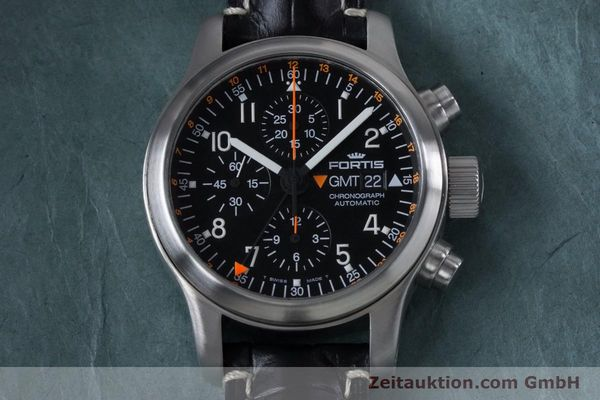 Used luxury watch Fortis B-42 chronograph steel automatic Kal. ETA 7750  | 161152 13