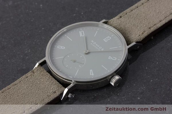 Used luxury watch Nomos Tangente steel manual winding Kal. Alpha  | 161155 01
