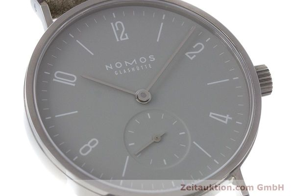 Used luxury watch Nomos Tangente steel manual winding Kal. Alpha  | 161155 02