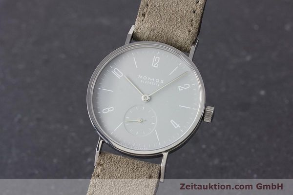 Used luxury watch Nomos Tangente steel manual winding Kal. Alpha  | 161155 04