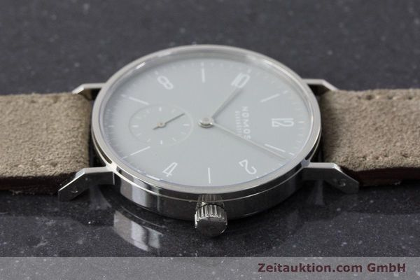 Used luxury watch Nomos Tangente steel manual winding Kal. Alpha  | 161155 05