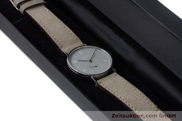 Used luxury watch Nomos Tangente steel manual winding Kal. Alpha  | 161155 07