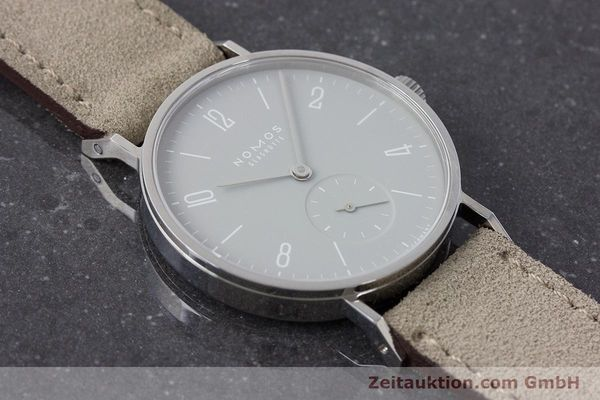 Used luxury watch Nomos Tangente steel manual winding Kal. Alpha  | 161155 14