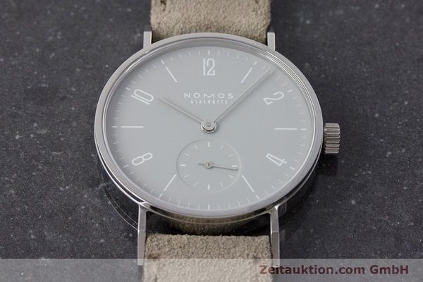 Used luxury watch Nomos Tangente steel manual winding Kal. Alpha  | 161155 15