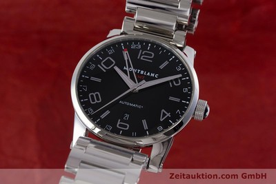 MONTBLANC TIME WALKER GMT HERRENUHR EDELSTAHL AUTOMATIK 7081 VP: 3890,- EURO [161156]