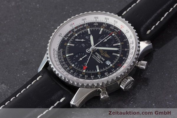 Used luxury watch Breitling Navitimer World chronograph steel automatic Kal. B24 ETA 7754 Ref. A24322  | 161157 01