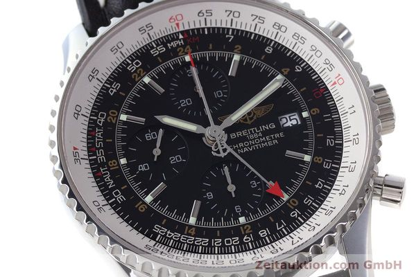 Used luxury watch Breitling Navitimer World chronograph steel automatic Kal. B24 ETA 7754 Ref. A24322  | 161157 02