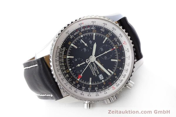 Used luxury watch Breitling Navitimer World chronograph steel automatic Kal. B24 ETA 7754 Ref. A24322  | 161157 03