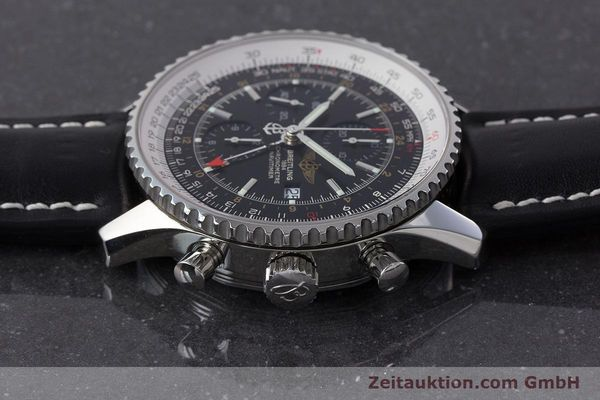 Used luxury watch Breitling Navitimer World chronograph steel automatic Kal. B24 ETA 7754 Ref. A24322  | 161157 05