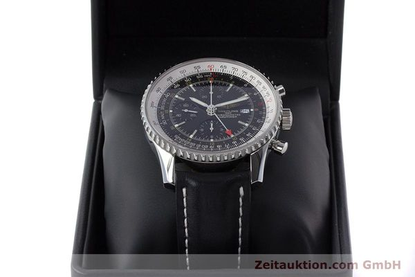 Used luxury watch Breitling Navitimer World chronograph steel automatic Kal. B24 ETA 7754 Ref. A24322  | 161157 07
