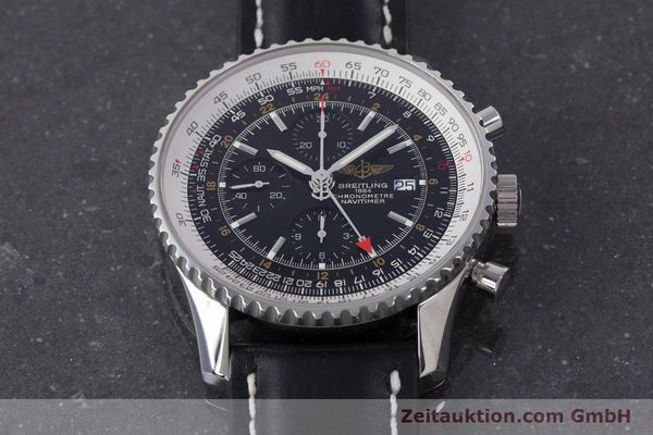 Used luxury watch Breitling Navitimer World chronograph steel automatic Kal. B24 ETA 7754 Ref. A24322  | 161157 16