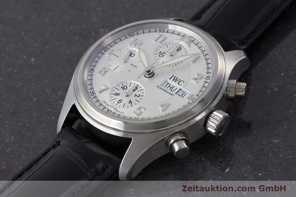 Used luxury watch IWC Fliegerchronograph chronograph steel automatic Kal. 79320 Ref. 3706  | 161158 01