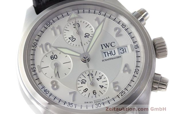 Used luxury watch IWC Fliegerchronograph chronograph steel automatic Kal. 79320 Ref. 3706  | 161158 02