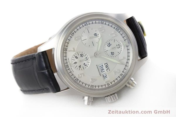 Used luxury watch IWC Fliegerchronograph chronograph steel automatic Kal. 79320 Ref. 3706  | 161158 03