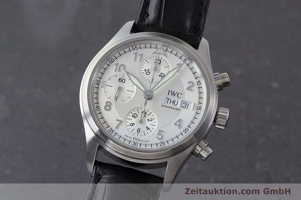 Used luxury watch IWC Fliegerchronograph chronograph steel automatic Kal. 79320 Ref. 3706  | 161158 04
