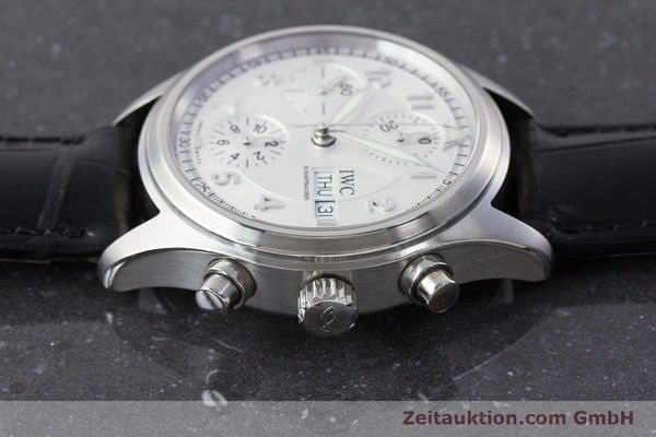 Used luxury watch IWC Fliegerchronograph chronograph steel automatic Kal. 79320 Ref. 3706  | 161158 05