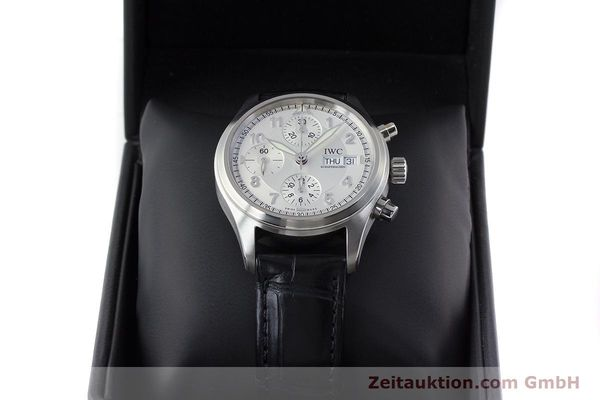 Used luxury watch IWC Fliegerchronograph chronograph steel automatic Kal. 79320 Ref. 3706  | 161158 07
