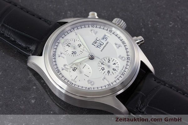 Used luxury watch IWC Fliegerchronograph chronograph steel automatic Kal. 79320 Ref. 3706  | 161158 14