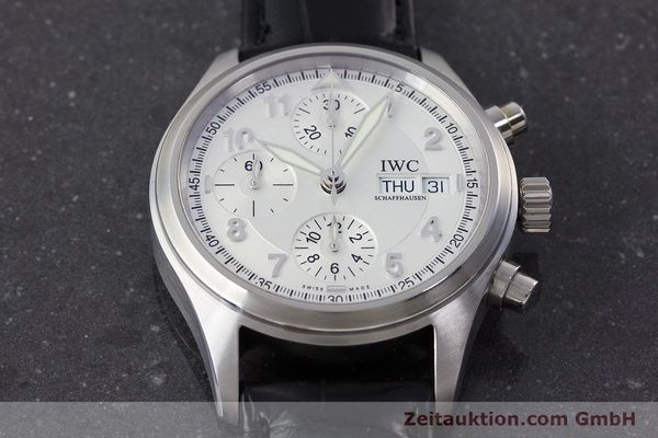 Used luxury watch IWC Fliegerchronograph chronograph steel automatic Kal. 79320 Ref. 3706  | 161158 15