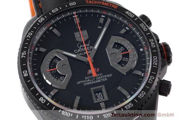 Used luxury watch Tag Heuer Carrera chronograph titanium automatic Kal. 17 ETA 2894-2 Ref. CAV518K  | 161159 02